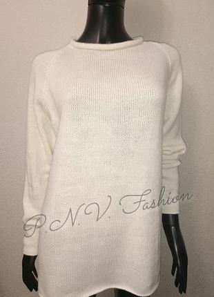 Вязаный свитер реглан теплый свитерок