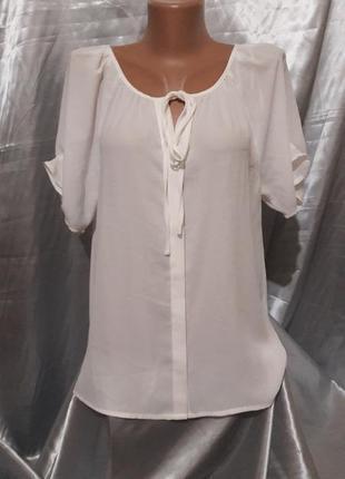 Белая шифоновая блузочка