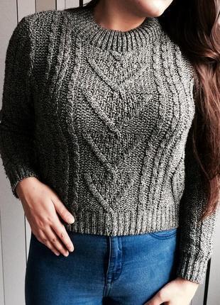Укороченный короткий свитер топ  джемпер