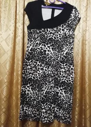Платье принт леопарда