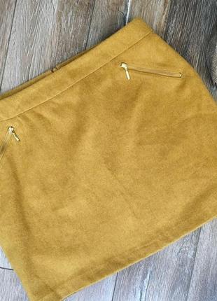 Стильная теплая юбка мини