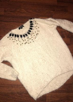 😍брендовый  стильный мягкий  свитер с камнями от preppy 😍