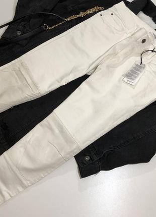 Плотні джинси зі вставками із шкірзаму mango super slim roma