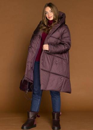 Распродажа .42-50р.зимние непромокаемые пальто пуховики куртки с капюшоном