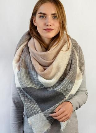 Хит!!! шарф-платок, плед в клетку!!! новый, разные цвета!!!
