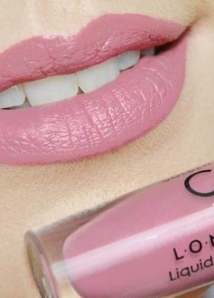 Матовая жидкая стойкая помада golden rose longstay liquid matte lipstick 03