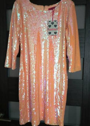 Красивое,нарядное платье в паетки от boohoo((в наличии очень много красивых платьев))