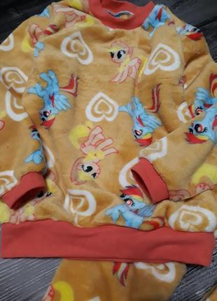 Пижамы плюшевые тёплые 250-350 грн от 2 до 14 лет