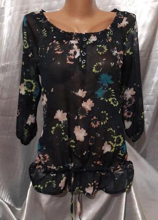 Шифоновая блузочка в цветочки