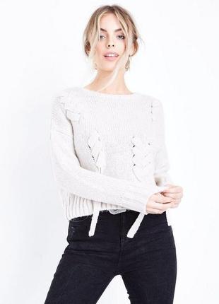 Актуальный вязаный свитер тёплый оверсайз, new look