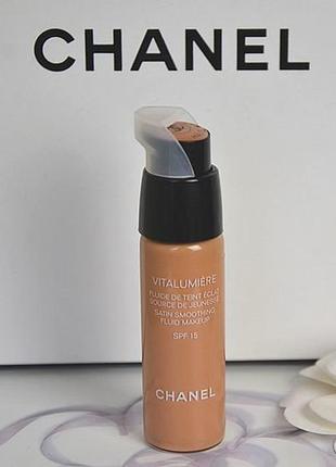 Тональный флюид chanel vitalumiere fluide de teint eclat # 25 petale -просрочка
