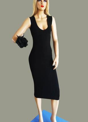 Черное платье по фигуре boohoo boohoo