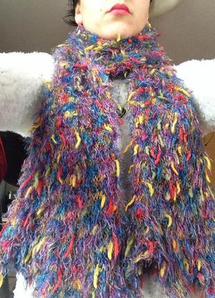 Разноцветный шарф травка возможен обмен