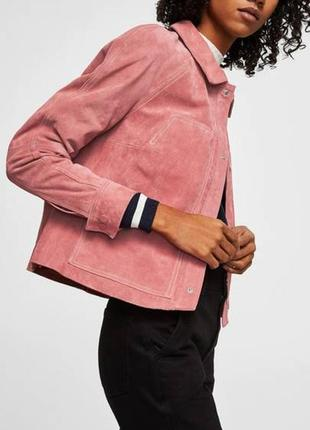 Замшевая курточка mango, новая, s-m
