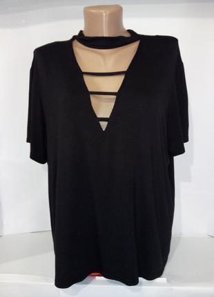 Трикотажная блуза с чекером boohoo uk 18 / 46 /.xxl