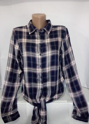 Стильная рубашка в клетку only uk 6 / 34 /.xxs