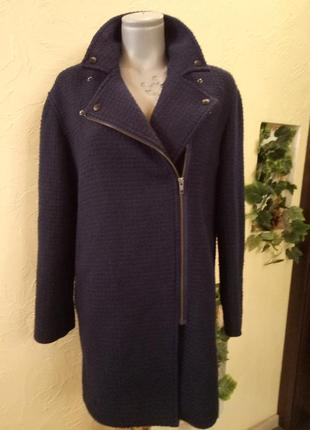 Буклированное пальто-косуха 48-50р
