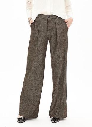 Теплые шерстяные классические штаны брюки, натуральная шерсть, ted baker