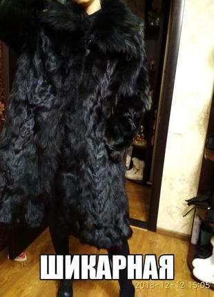 Шикарная натуральная  с переливами  шуба из лисы турция размер 46-52