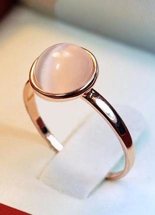 Кольцо опалый камень, позолота