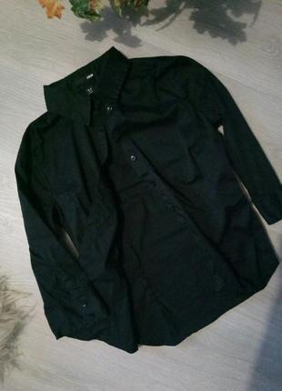Бредовая классическая черная рубашка