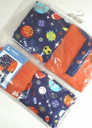Новый комплект пижама, от бренда tu. в наборе 2 комплекта. на рост 2- 3. 92- 98см.