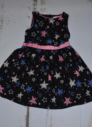 Платье в звездах m&s на 4-5 лет