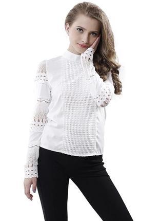 Нарядная блуза с вышивкой4 фото