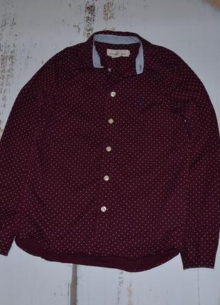 Крутая рубашка в горох h&m на 9-10 лет