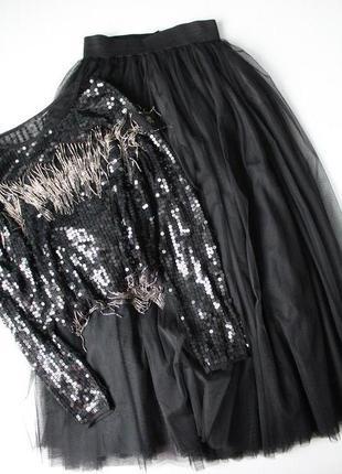 Пышная фатиновая юбка. новая.