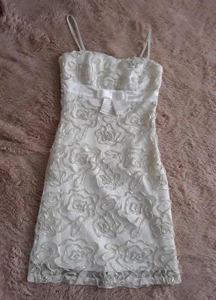 Вечернее платье / платье на бретелях / короткое платье