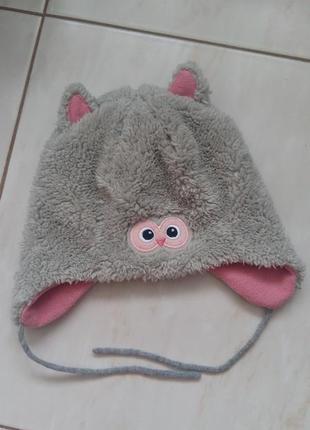 Утеплена мила шапка