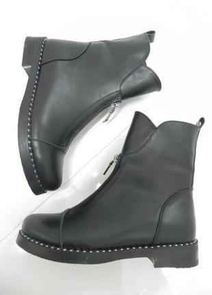 Стильные зимние полусапожки ботинки кожа 37-40 размер