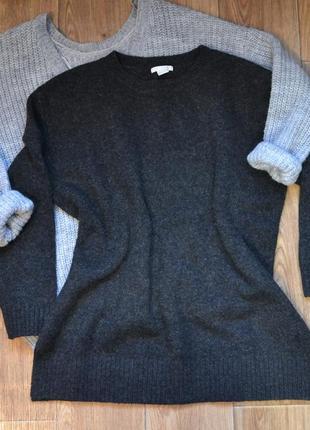 Теплый свитер с шерстью