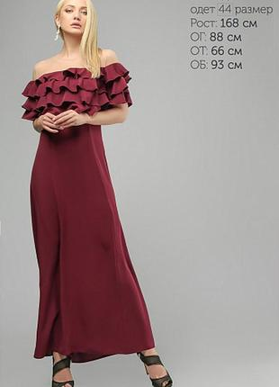 Платье с воланами  42,44,46,48