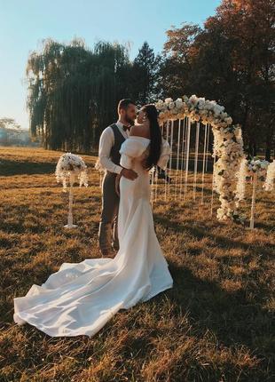 Свадебное платье айвори вечернее нарядное актуально