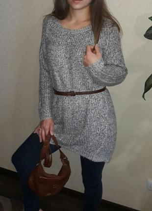 Платье свитер с люрексом
