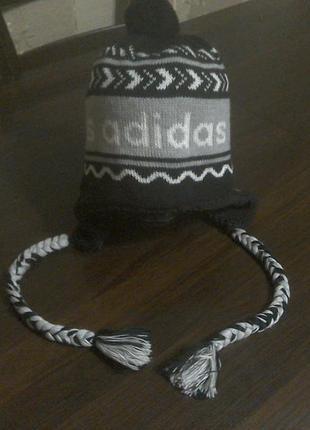 Шапка- ушанка  адидас (adidas)  57 см.