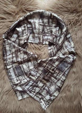 Коричневый платок шарф paul smith,шелковый платок шарф,шелковый серый платок шарф