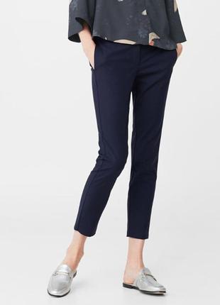 Зауженные синие брюки zara l/ 46-48 размер