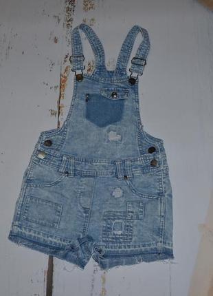 Стильный джинсовый комбинезон next 8 лет