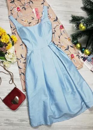 Шикарное атласное платье-миди от идеального бренда 122707 chi chi london размер uk12 (m)