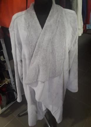 Меховый кардиган одеяло