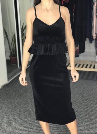 Платье велюр liwai p.s/xs