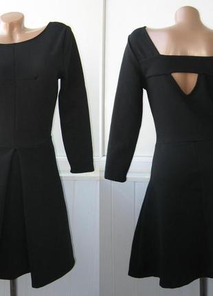 Платье фактурное с интересной спинкой