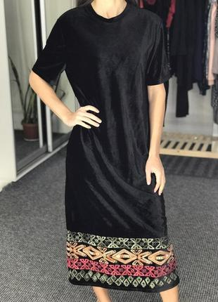 Платье велюр zara traffic p.m