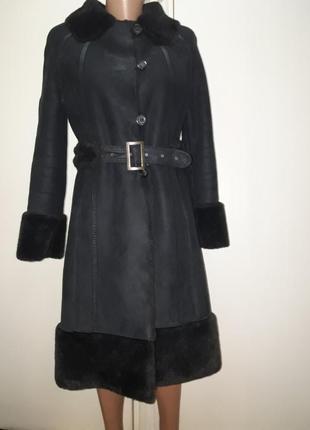 Дубленка-пальто