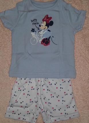 Пижамки на девочку с мини маус 3-6 месяцев george