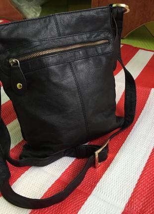 Классная кожаная сумка кроссбоди south/ 100% кожа