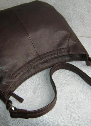 Debenhams сумка торба кожаная 32х25х10 длинная ручка на плечо натуральная кожа